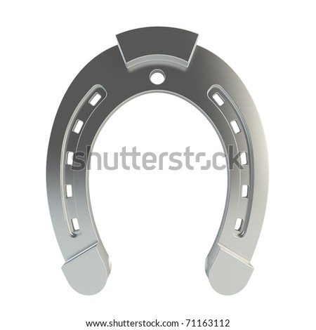 3d render of horseshoe on white background