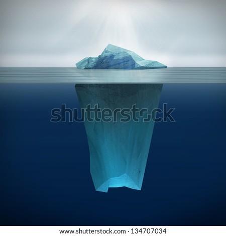 3d render of  Iceberg - stock photo