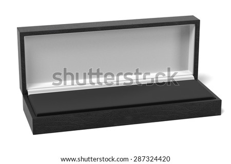 3d render of jewelry box - stock photo