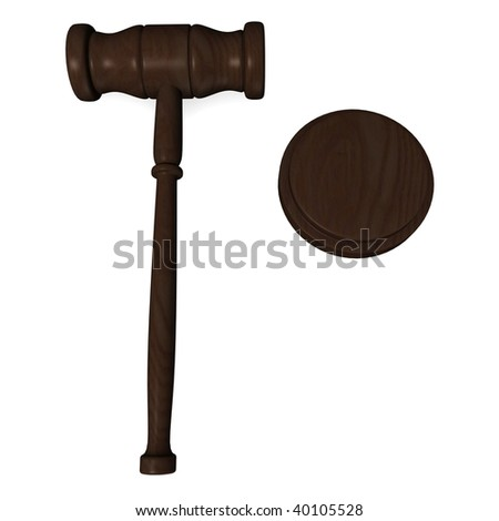 3d render of judge gavel