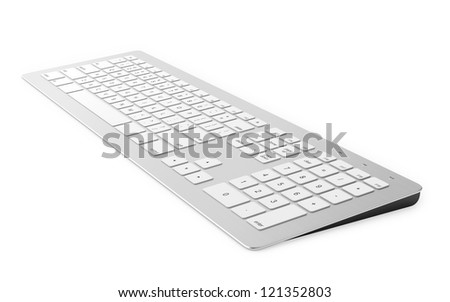 3D render of keyboard isolated on white background