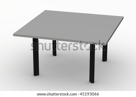 3d render of modern table
