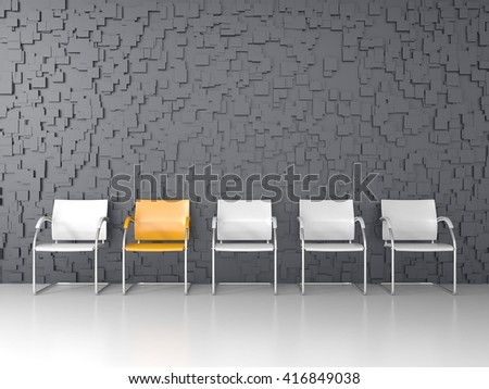 3D render of modern waiting room