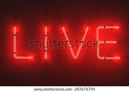 3d render of neon lights - live - stock photo