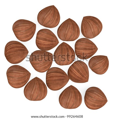 3d render of nut (natural food) - stock photo