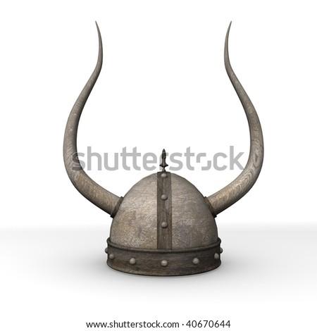 3d render of old helmet - stock photo