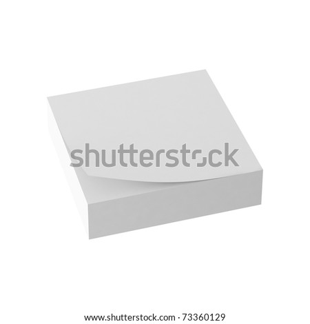 3d render of paper note - stock photo