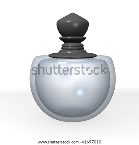 3d render of parfume glass