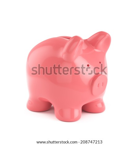 3d render of piggybank isolated on white background