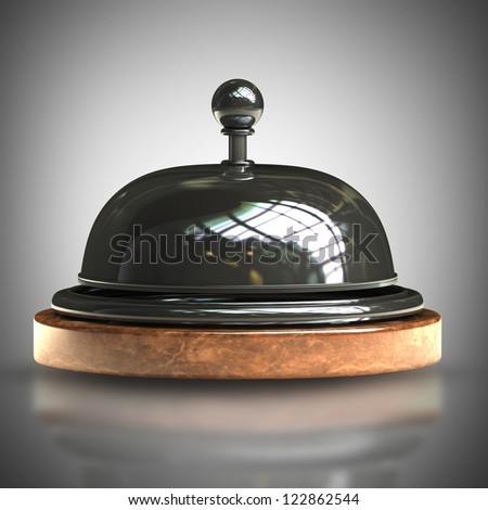 3d render of Reception bell. High resolution - stock photo