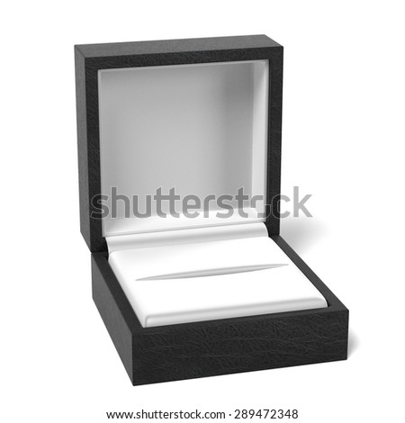 3d render of ring in box - stock photo