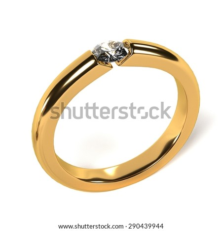 3d render of ring (jewel)