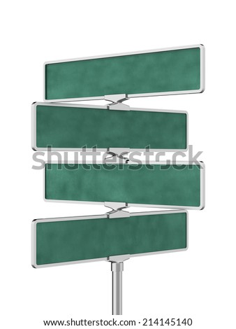 3d render of roadsigns board isolated on white background