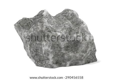 3d render of rock stone - stock photo