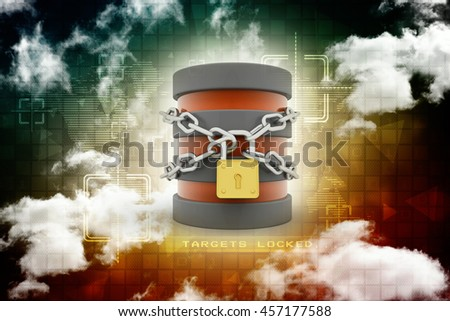 3d render of safe storage concept - stock photo
