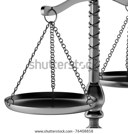 3d render of scales - stock photo