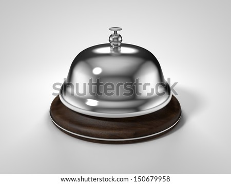 3d render of service bell isolated on white background - stock photo