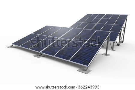 3D render of solar panels / Solar Panels