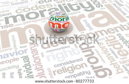 3d render of sphere with wordcloud texture on the background of wordtags - stock photo