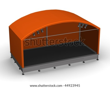 3d render of stage (podium)