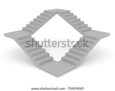 3d render of stairs concept on white background - stock photo