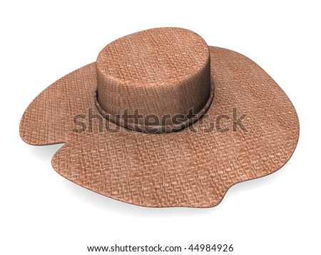 3d render of straw hat