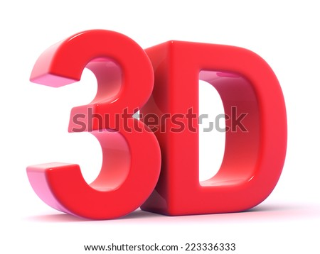 3d render of the acronym 3D