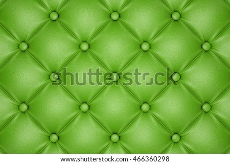 3D render of the green quilted leather pattern