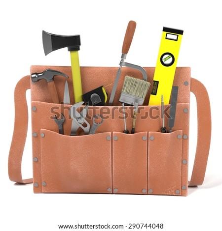 3d render of tool bag - stock photo