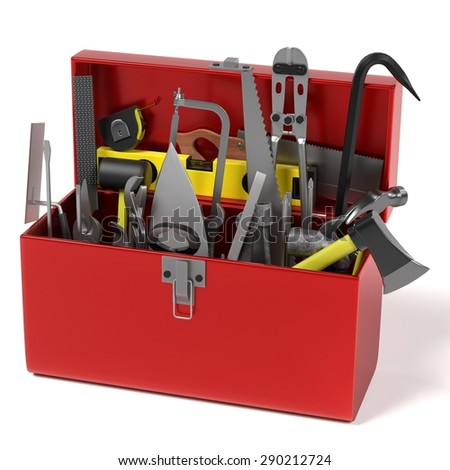 3d render of tool box - stock photo