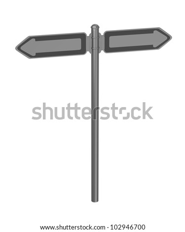 3d render of traffic sign