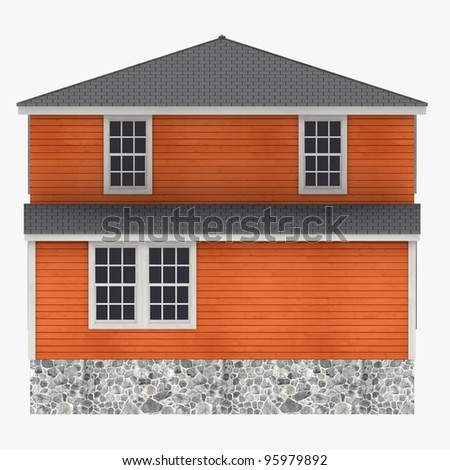 3d render of US house