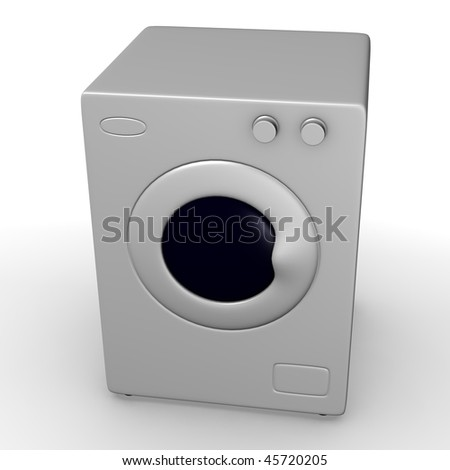 3d render of wash machine