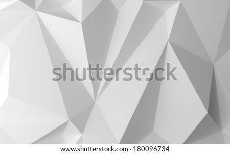 3d render of white abstract background - stock photo