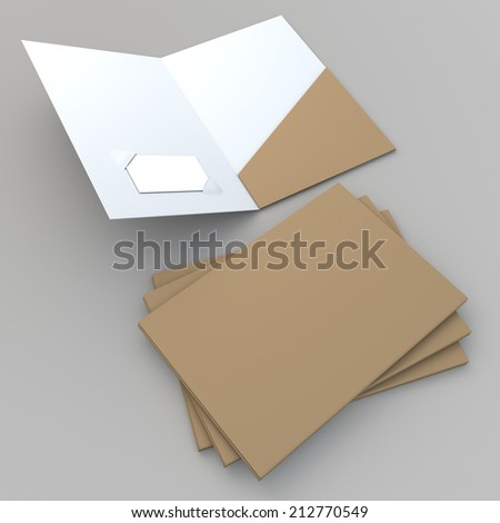 3 d render original brown clean white stock illustration 212770549 3d render original brown clean white folder attach business card slot in isolated background with colourmoves