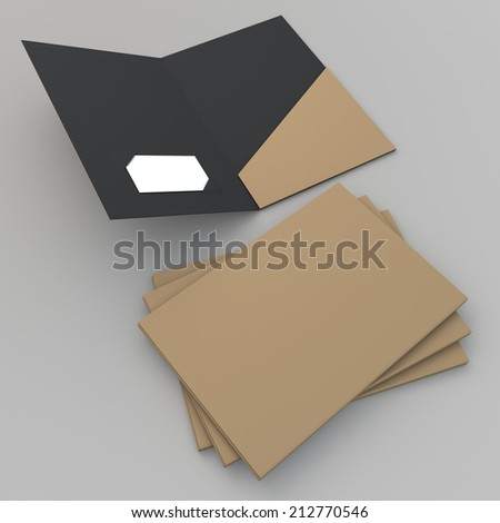 3 d render original brown matte black stock illustration 212770546 3d render original brown matte black folder attach business card slot in isolated background with colourmoves