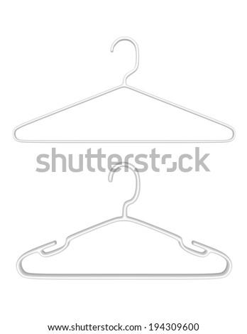3d Render Pair of Plastic Hangers - stock photo