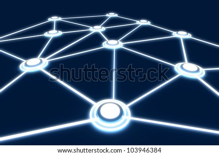 3D render Plate networking light Public Data Business - stock photo