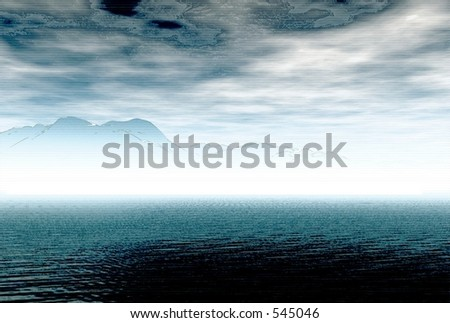 3d Render Puget Sound - stock photo