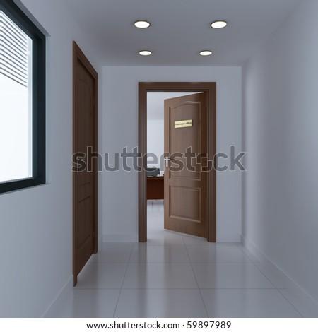 Interior Office Door open office door stock images, royalty-free images & vectors