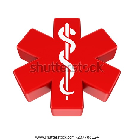 3d renderd medical symbol isolated on white background. - stock photo