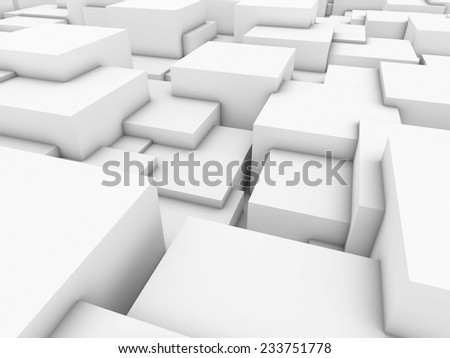 3d rendered abstract composition with many cubes.