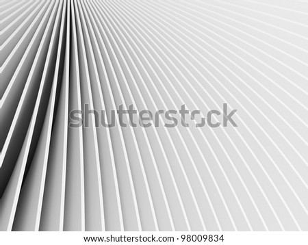 3d rendered abstract grey forms - stock photo