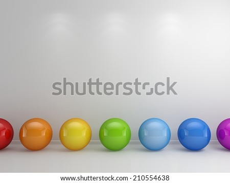 3d rendered abstract interior composition. - stock photo