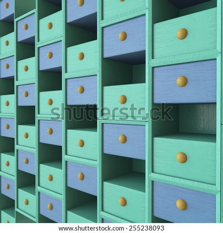 3d rendered background of a children's cabinet