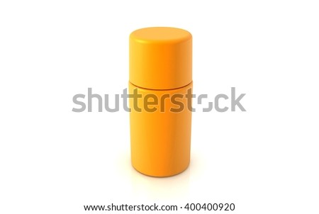 3D rendered bottle on white background - stock photo