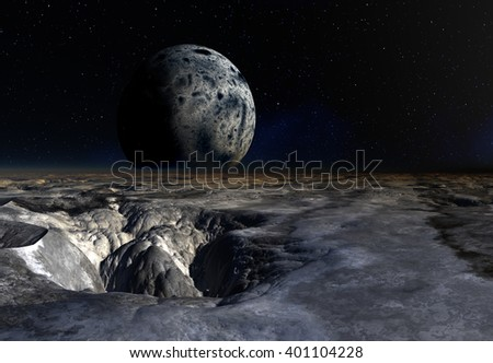 3d Rendered Fantasy Alien Planet - Illustration