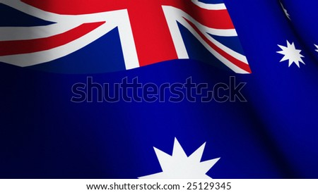 3d rendered Flag of Australia 2