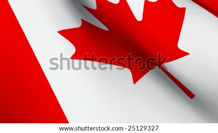 3d Rendered Flag of Canada 2 - stock photo