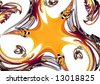 3D rendered fractal (abstract background) - stock photo